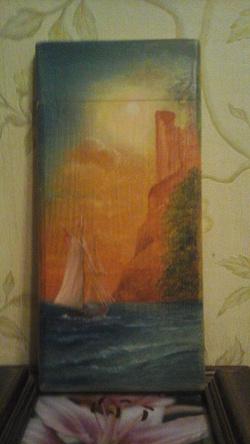 Отдается в дар «Картина на дереве»
