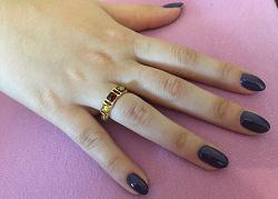 Отдается в дар «Кольцо: серебро, позолота, янтарь»