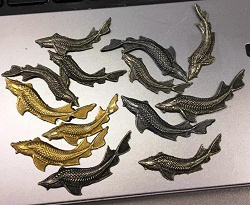 Отдается в дар «Рыбки из свинца»