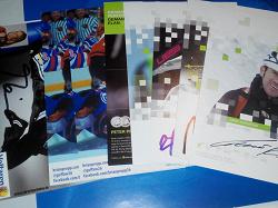 Отдается в дар «Чистые открытки с автографами спортивные»