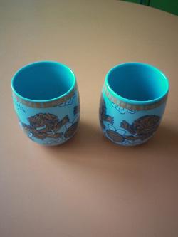 Отдается в дар «2 китайских стакана с драконами»