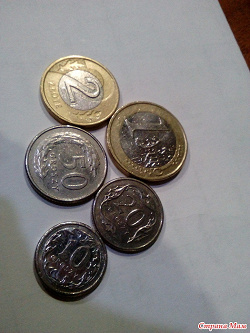 Отдается в дар «Монеты Турции, ЕС, Польши»