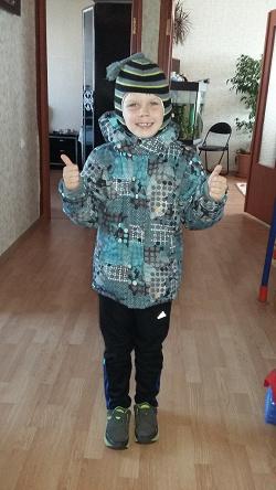 Отдается в дар «Зимняя куртка для мальчика, рост 128 см»