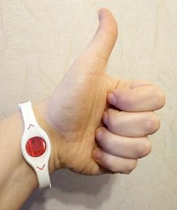 Отдается в дар «Силиконовый браслет с голограммой POWER BALANCE»