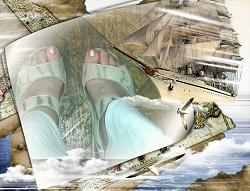 Отдается в дар «Женские сандалии»