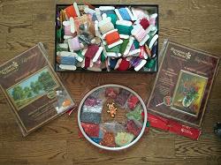 Отдается в дар «Нитки мулине, наборы для вышивания бисером»