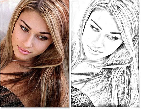 Из фотографии сделать рисунок карандашом