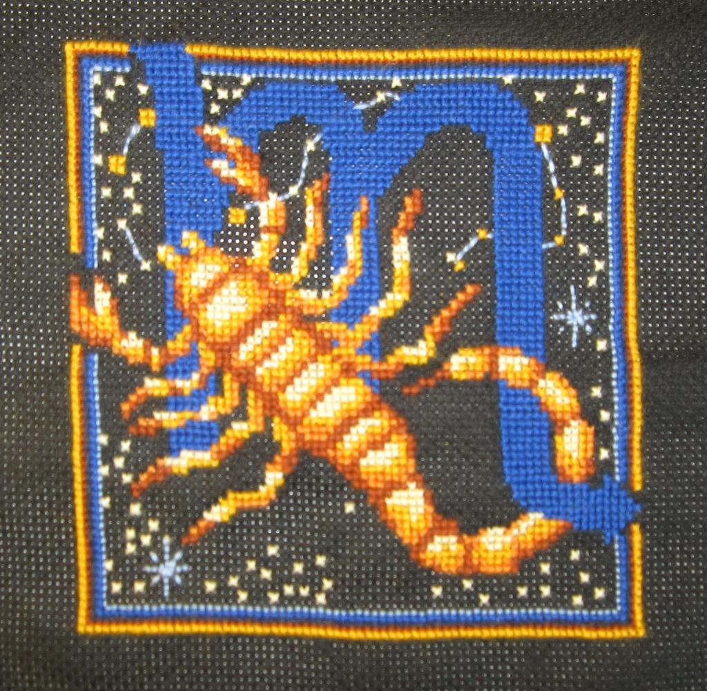 вышивание скорпиона картинки