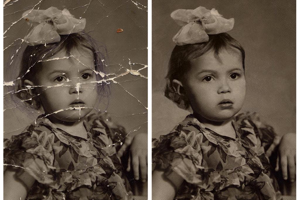 как можно восстановить старую фотографию обитает песчаная