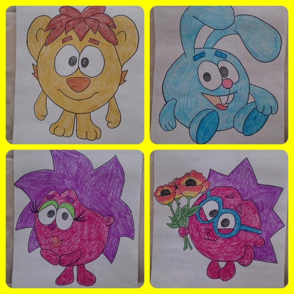 смешарики рисунки картинки цветные