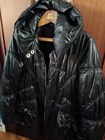 Отдается в дар Куртка удлиненная на синтепоне, с капюшоном, размер 48-50.