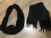 Отдается в дар Снуд ( хомут) чёрный и чёрный шарф