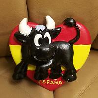 Отдается в дар Магнит на холодильник — испанская корова