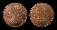 Отдается в дар Монета Франция 2 евроцента (2012)