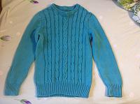 Отдается в дар Бирюзовый свитер