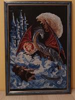 Отдается в дар Картина крестиком «Дракон»