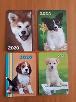 Отдается в дар Карманные календарики- щенки