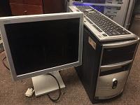 Отдается в дар Системный блок (без HDD) + монитор