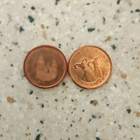 Отдается в дар Евроценты единички