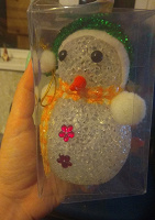 Отдается в дар Светящийся снеговик