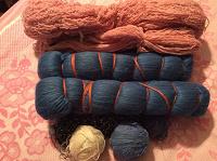 Отдается в дар Нитки для вязания ковриков, сидушек