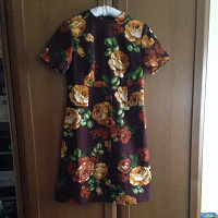 Отдается в дар Ретро-платье из крепдешина размер S