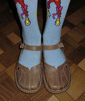 Отдается в дар Кожаные туфельки