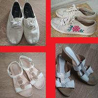 Женская обувь белая 38-38.5 размер