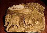 Отдается в дар Слоны из Таиланда- барельеф