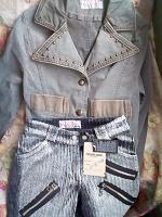Новые пиджачок и вельветовые брюки для девочки