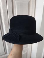Отдается в дар Женская чёрная шляпа, р.56