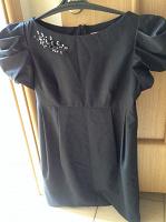 Отдается в дар черное платье 48 размера