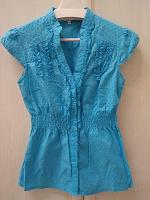 Отдается в дар Голубая блузка — oodji