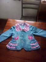Отдается в дар Нарядный джинс пиджак на девочку