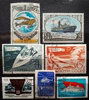 Отдается в дар Транспорт и техника на марках СССР.