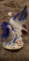 Отдается в дар Маленькая интерьерная статуэтка 2 голубя