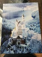 Отдается в дар Холст с фотографией замка Нойшванштайн