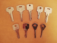 Отдается в дар Ключи от дверей