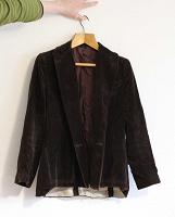 Отдается в дар Бархатный пиджак винтаж — надо дошить