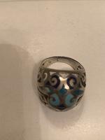 Отдается в дар кольцо с эмалью