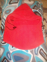 Отдается в дар Капюшон-шлем из флиса с регулируемой резинкой