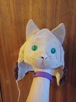 Отдается в дар Детская шапка-маска-кошка очень старая(советских времён)