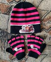 Отдается в дар Детские шапочка и перчатки