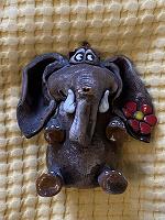 Отдается в дар Слон из глины