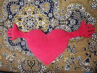 Отдается в дар Подушка-сердце
