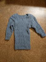 Отдается в дар Вязанная футболка, кофта, размер 42-46