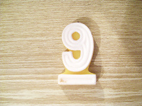 Отдается в дар Свечка на торт — цифра «9»