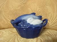 Отдается в дар Керамическая вазочка с крышкой