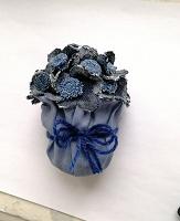 Отдается в дар Цветы джинсовые в горшочке