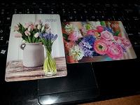 Отдается в дар Карманные календарики «Нежные цветы».